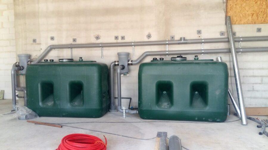 Citernes de stockage d'eau