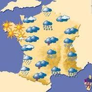 Carte de France avec la météo