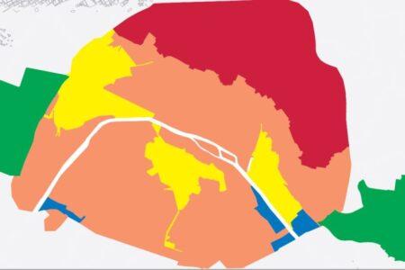 Carte du zonage du plan Parispluie