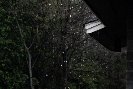 extérieur avec pluie